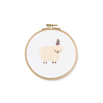 DMC Printed Embroidery Kit- FOR YOU ! SHEEP- TB124